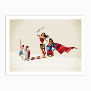 Super Shadows Sisters In Arms Art Print