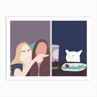 Taylor And Smudge The Cat Meme  Art Print