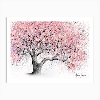 Taffy Blossom Tree Art Print