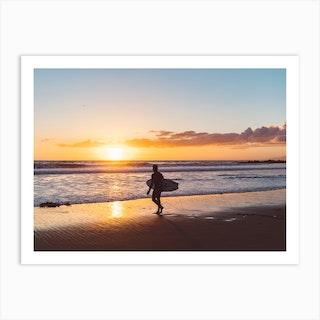 Venice Beach Surfer Ii Art Print