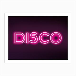 Disco Neon Art Print