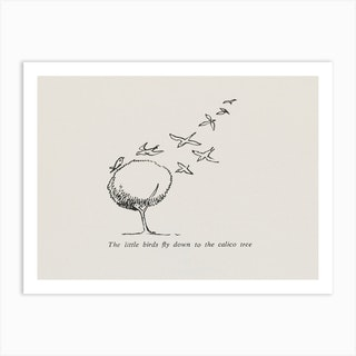 The little birds, Edward Lear Art Print
