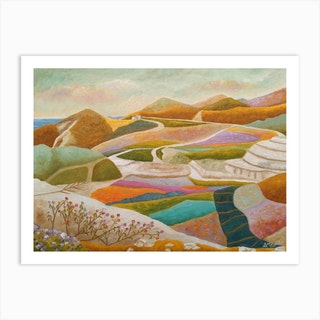 Flowers Sprouting In The Rocky Valley Art Print