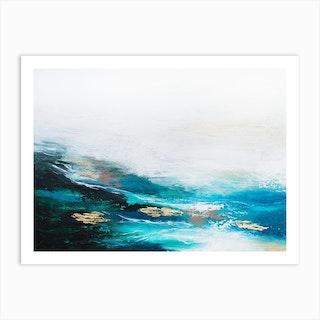 Verdant Wave Art Print