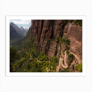 Trail To Angels Landing Zion Art Print