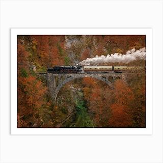 Museum Train Art Print