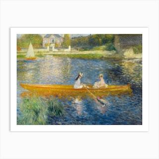 The Skiff, Pierre-Auguste Renoir Art Print