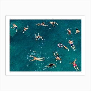 Blue Water Swim Art Print