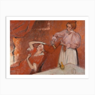 Combing The Hair, Hilaire-Germain-Edgar Degas Art Print