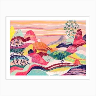 Dreamy Hills Landscape 2 Art Print