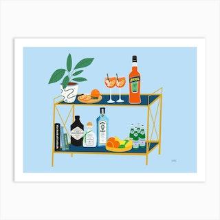Bar Cart Of Dreams Art Print
