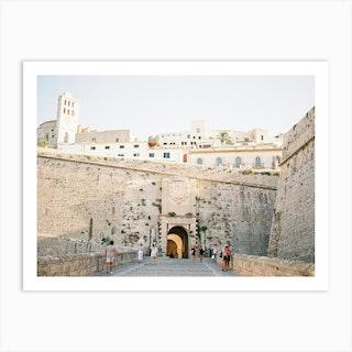 Entrance Of Eivissa Ibiza Art Print
