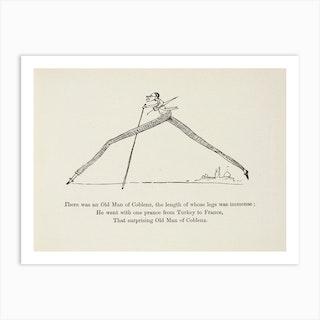 The Old Man of Coblenz, Edward Lear Art Print