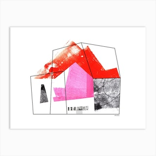 Home Abstract Collage Red Art Print