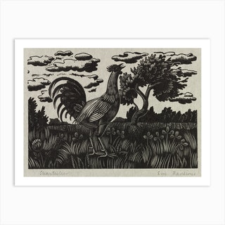 Chanticleer, Eric Ravilious Art Print