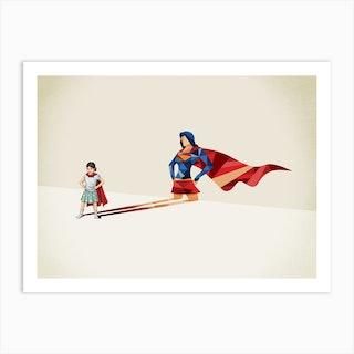 Super Shadows Heroine Art Print