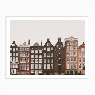 Amsterdam In A Row Art Print