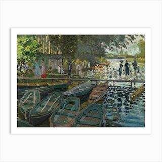 Bathers At La Grenouillere, Claude Monet Art Print