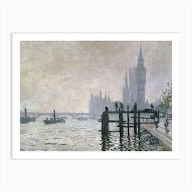 The Thames Below Westminster, 1871 by Claude Monet Art Print