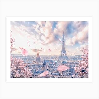 French Sakura Art Print