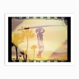 Surfer Sky Art Print