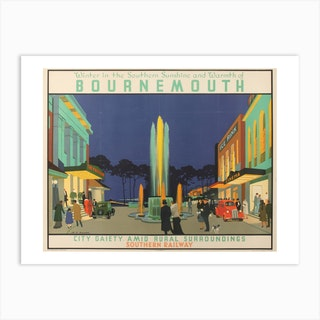 Winter In The Southern Sunshine And Warmth Of Bournemouth Art Print