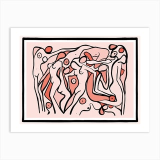 Psychedelic Nudes 2 Art Print