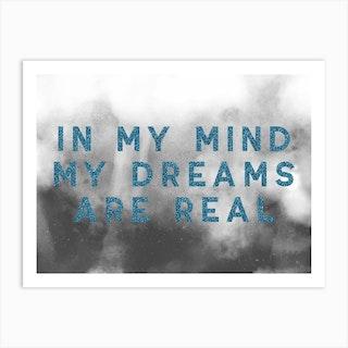 Dreams Blue Art Print