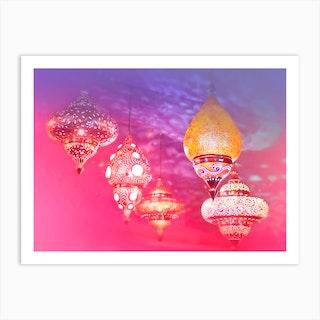 Oriental Magical Lights  Art Print