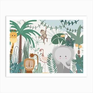 Jungle Friends Art Print