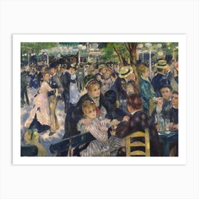 Ball At The Moulin De La Galette, 1876 by Pierre Auguste Renoir Art Print