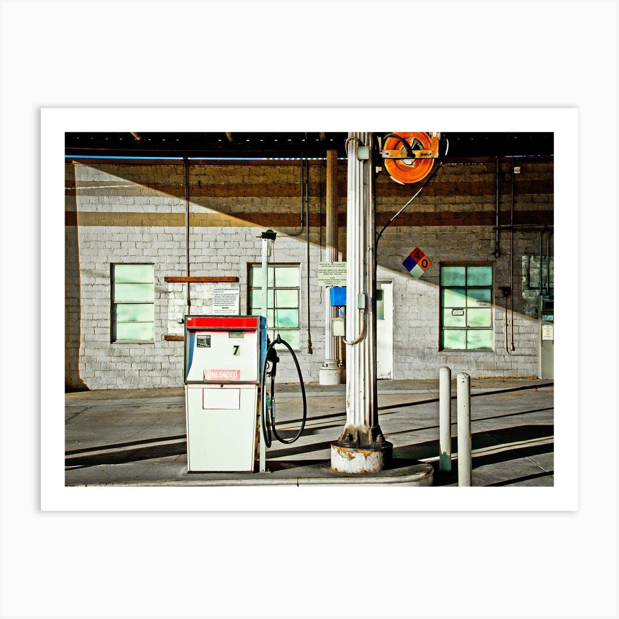Old Gas Station Art Print By Jordan Ricaurte Fy