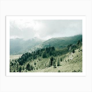 Green Hills In Austria Art Print