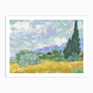 Wheatfield With Cypresses, 1889 by Vincent van Gogh Art Print
