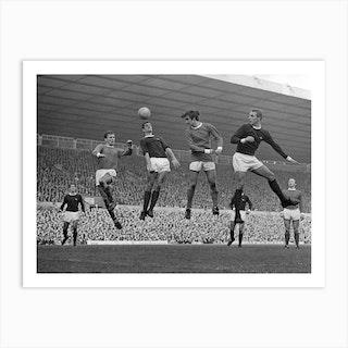 Pat Crerand, Frank Mclinktock, George Best And John Radford, 1967 Art Print