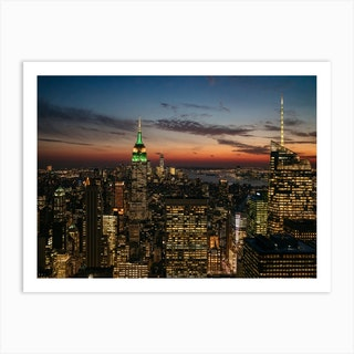 Top Of The Rock View At Night 2 Art Print