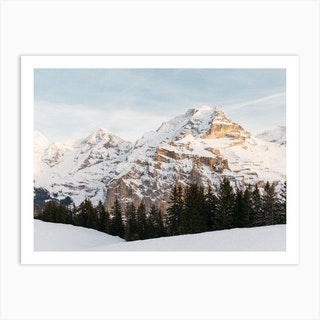 Swiss Alps At Dusk Art Print