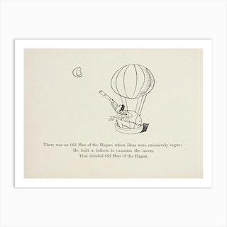 The Old Man of The Hague, Edward Lear Art Print