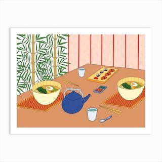 Ramen In Japan Art Print