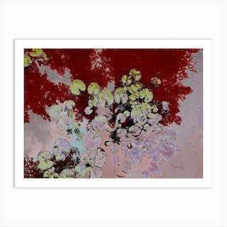 Lotus Red Art Print