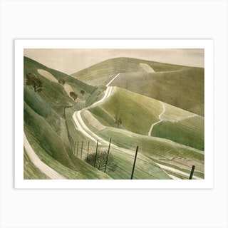 Chalk Paths by Eric Ravilious Art Print