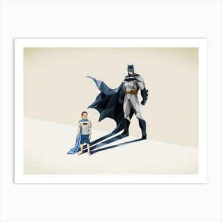 Super Shadows Dark Knight Art Print