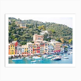 Colourful Portofino Art Print