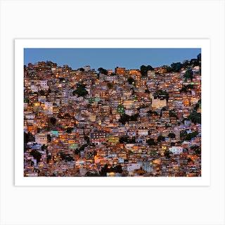 Nightfall In The Favela Da Rocinha Art Print