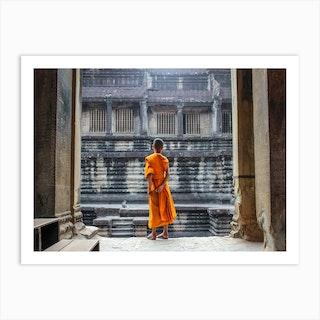Curious Monk Art Print