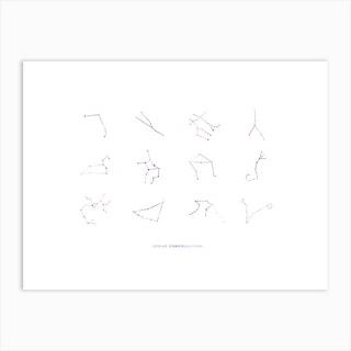 Zodiac Constellation Chart Art Print