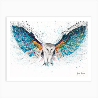 Opulent Night Owl Art Print