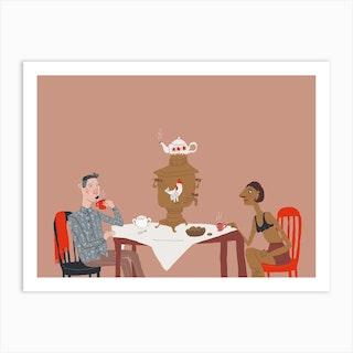 Tea Party 2 Art Print