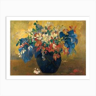 A Vase Of Flowers, Paul Gauguin Art Print