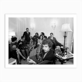 Bob Dylan A L Hotel Savoy Art Print